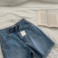 【予約販売】denim half pants