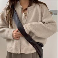 【予約販売】alpaca zip up knit