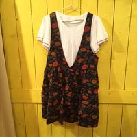 [0459op]カラフル花柄ジャンパースカート