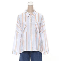 [0553tp]ダブルポケットストライプシャツ