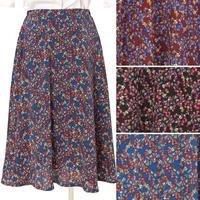 [0481sk]花柄フレアーミディスカート