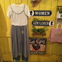 [0397op]Tシャツ×シースルーキャミワンピース(SET)