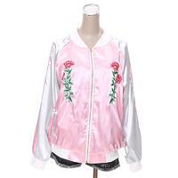 [0557ot]花刺繍スカジャン