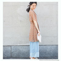 [1740op]レトロ花柄ワンピース