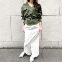 [1668tp]チノツイルノーカラーシャツジャケット