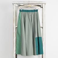 [0699sk]3トーンカラースカート