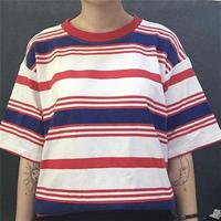 [1316tp]マルチボーダーTシャツ