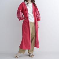 [1150ot]インド綿刺繍ロングカーディガン