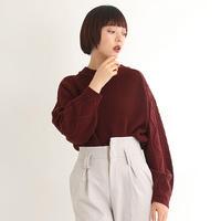 [1604tp]袖ケーブル編みシンプルニット
