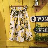 [0353sk]レモン柄スカート