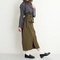[0995sk]ペプラムミモレ丈スカート