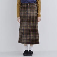 [1394sk]チェック台形スカート
