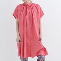 [1327op]コットン半袖ロングシャツ