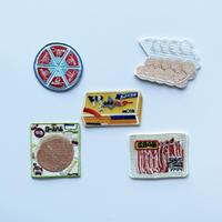 83SELECT / 刺繍ワッペン [ スーパーの食品 ] |5-Type