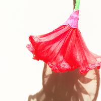 むくり  /  一輪の花ピアス RED|2-Type