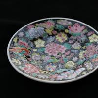 物色 / China Plate ヴィンテージ 中国のお皿 植物