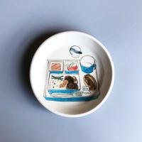 機内食 Airline meal  [絵皿]/ esou ceramics