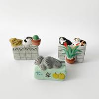 habotan /土人形 街の猫たち 3-Type