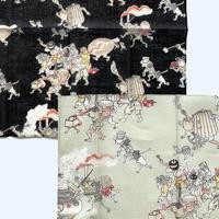 83SELECT /  大判ハンカチ 湯本豪一コレクション 妖怪づくし 百鬼夜行|2-Color