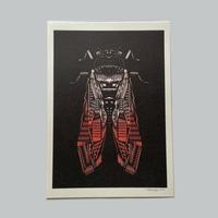 ヘルミッペ / リソグラフ ポスター|蝉