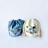 83SELECT / Nathalie Lete Drawstring Bag いぬねこ巾着 |2-Type