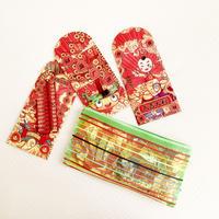 鉄窓花書房 tamazo /  台湾 メッシュポーチ+紅包袋12枚組セット