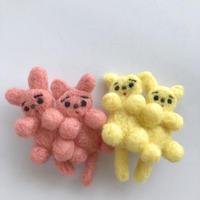 さとなかちさ / 双子の動物ブローチ ねこ  2-Color