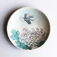 esou ceramics / 菊と人工衛星  [絵皿]