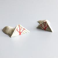 esou ceramics / 等高線箸置き [ 火山 ]  3-Color