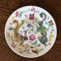 物色 / China Plate ヴィンテージ 中国のお皿|白龍