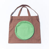 monde work / 帆布トートバッグ○ BIG|Brown+MintGreen