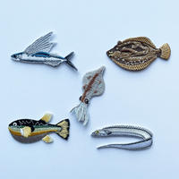 83SELECT / 刺繍ワッペン [ 海の旨いもん ] |4-Type