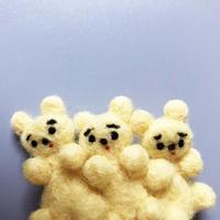 さとなかちさ / 三つ子の動物ブローチ |黄くま