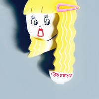 りかちゃん / ラーメンヘアの女の子 & 한글 ブローチ|5-Color