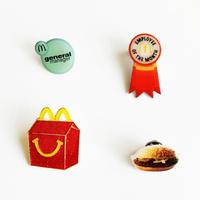 83SELECT / McDonald's PINS マクドナルドオフィシャルピンバッジ|4-Type
