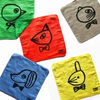 83SELECT / 山鳩舎 どうぶつハンドタオル animal  hand towel 5-Type