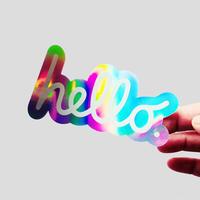 hello 虹 ステッカー /83 original
