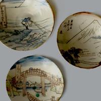 田川亞希 / 浮世絵風景 富士 4寸皿|3-Type