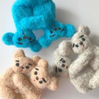 さとなかちさ / 抱き合う動物ブローチ| コアラ・くま 3-Color