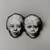 のそ子 / Twins Brooch |老  [ 双子 ブローチ ]