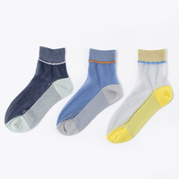 TRICOTE / LAME SEE-THROUGH SOCKS|3-Color