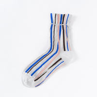TRICOTE / HAND STRIPE SOCKS|2-Color