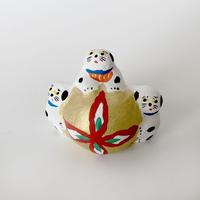 habotan / 鞠と犬  土人形 D4