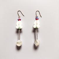 むくり  /  furicoピアス |White × Clear