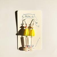 むくり  /  furicoピアス  Yellow × Clear