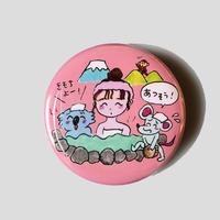 りかちゃん / 温泉缶バッチ