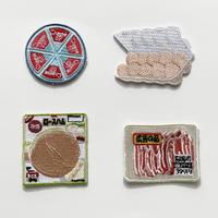 83SELECT / 刺繍ワッペン [ スーパーの食品 ]  4-Type