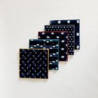 イスクラ / 伝統工芸品 久留米絣コースター 手織り 5枚セット 3-Type