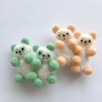 さとなかちさ / 双子の動物ブローチ パンダ |2-Color