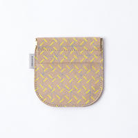TRICOTE / LEATHER COIN CASE |Yellow